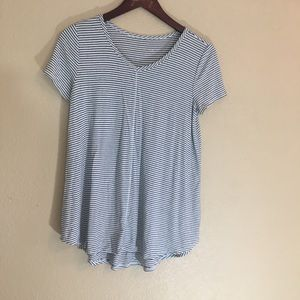 Textured black and white blouse from target v neck